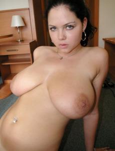 Teen with sexy megaboobs