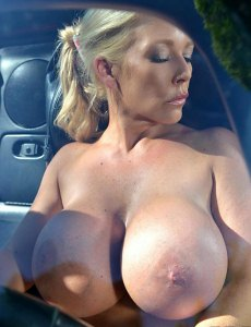 Airbags On The Hood Busty Blonde 039 s Big Tits Exposed