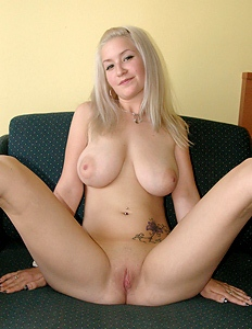 Blonde angel has amazing tits
