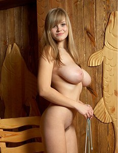Busty babe with spokes