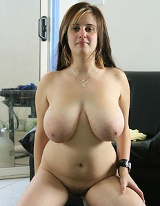 Woman with really big hooters